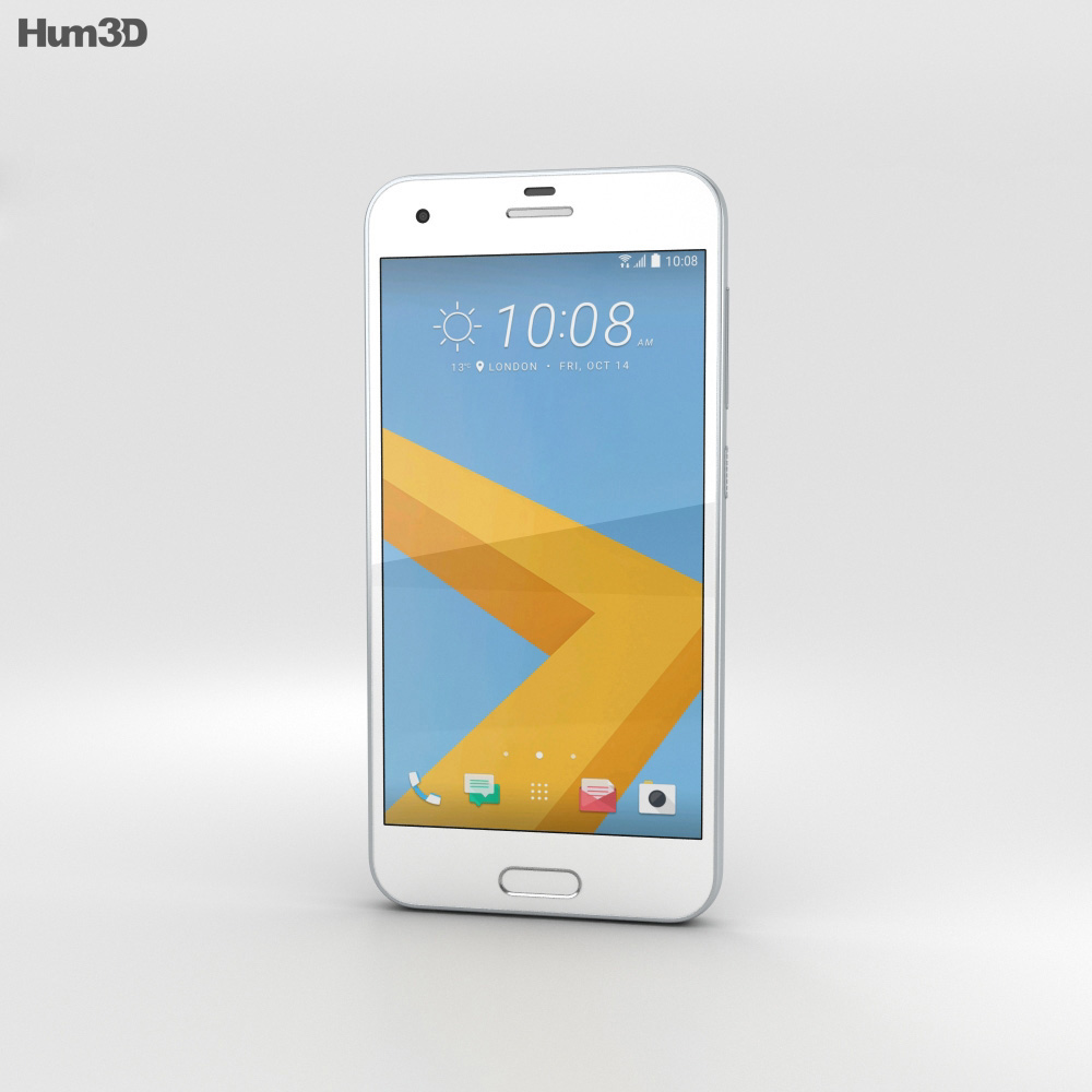 HTC One A9s Silver 3d model