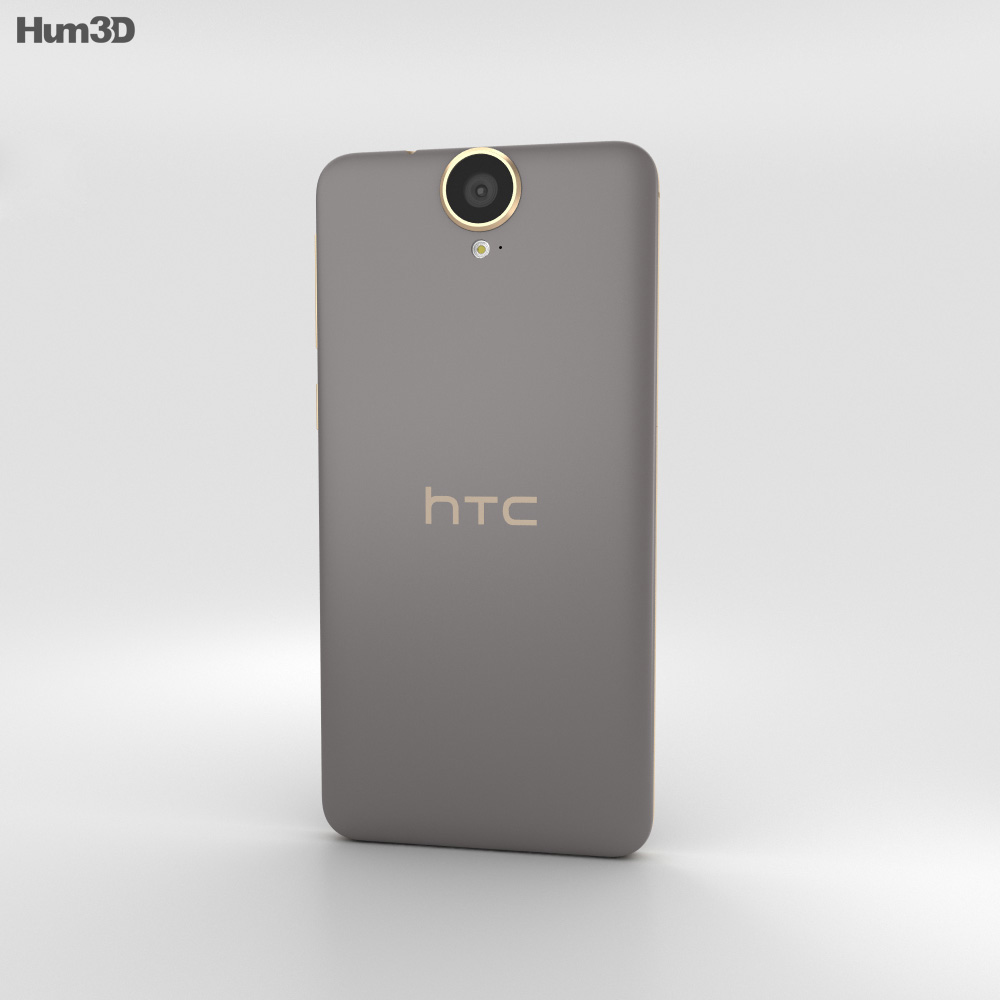 HTC One E9+ Gold Sepia 3d model