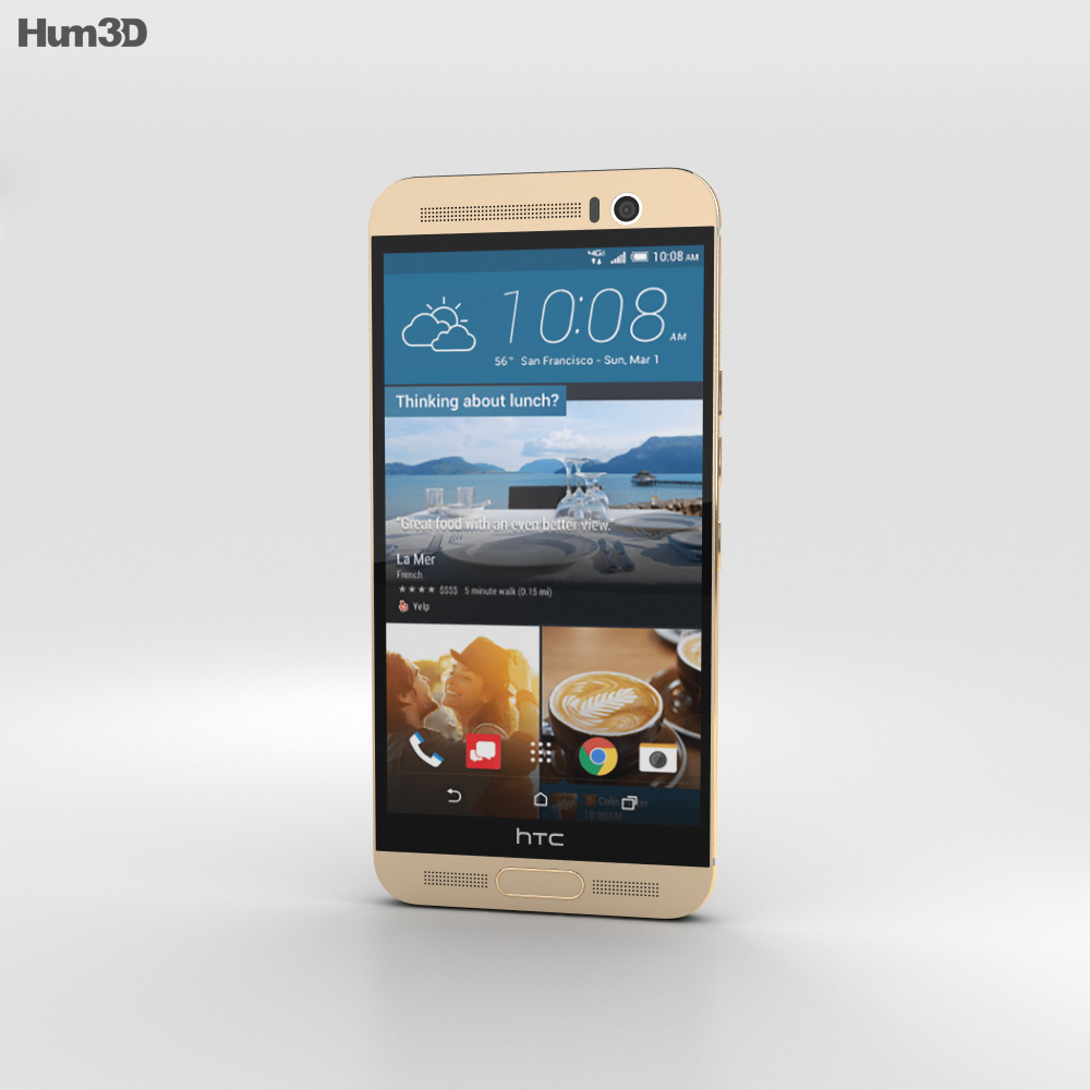 HTC One M9+ Amber Gold 3d model