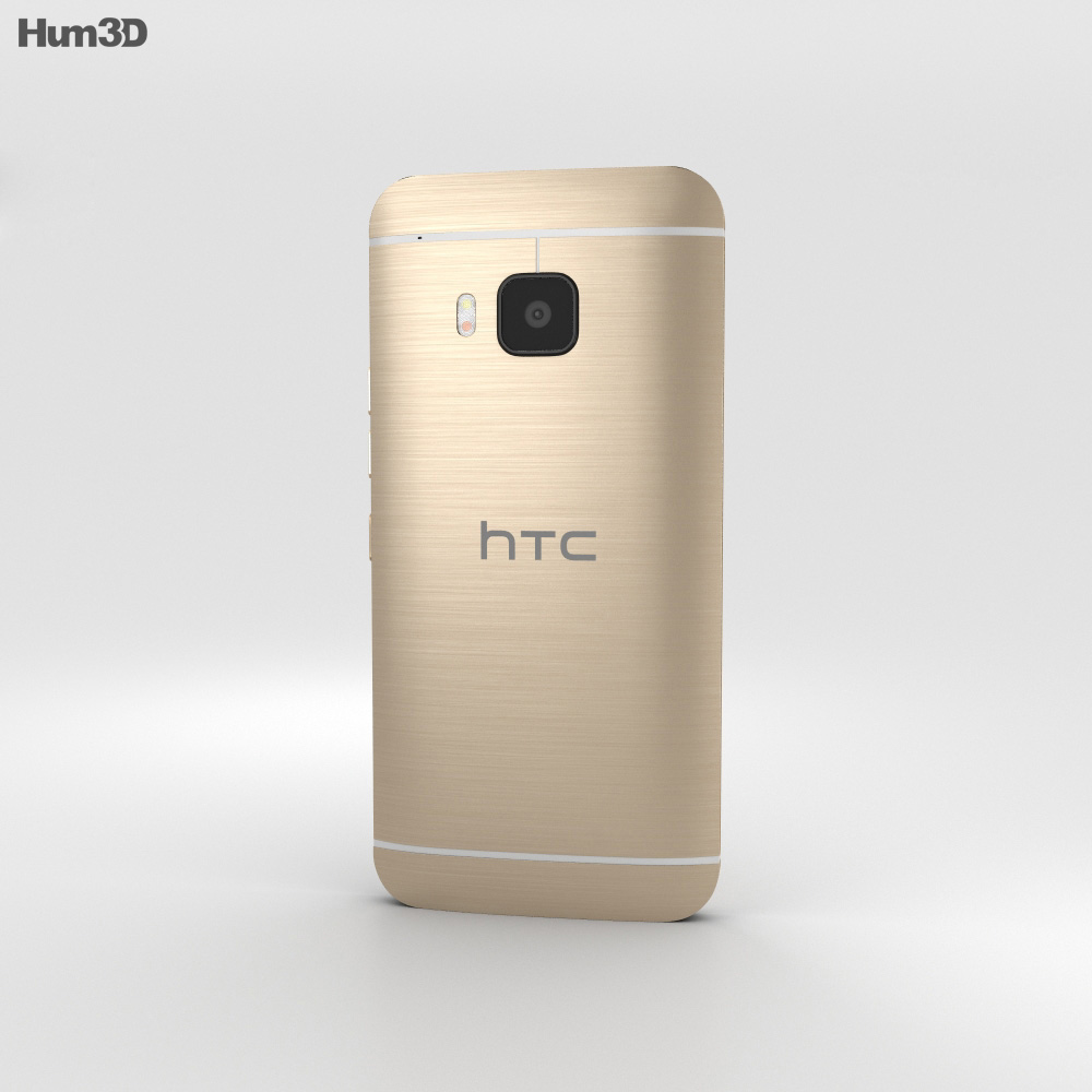 HTC One S9 Gold 3d model