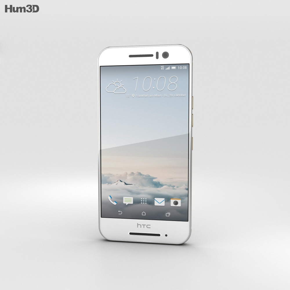 HTC One S9 Silver 3d model