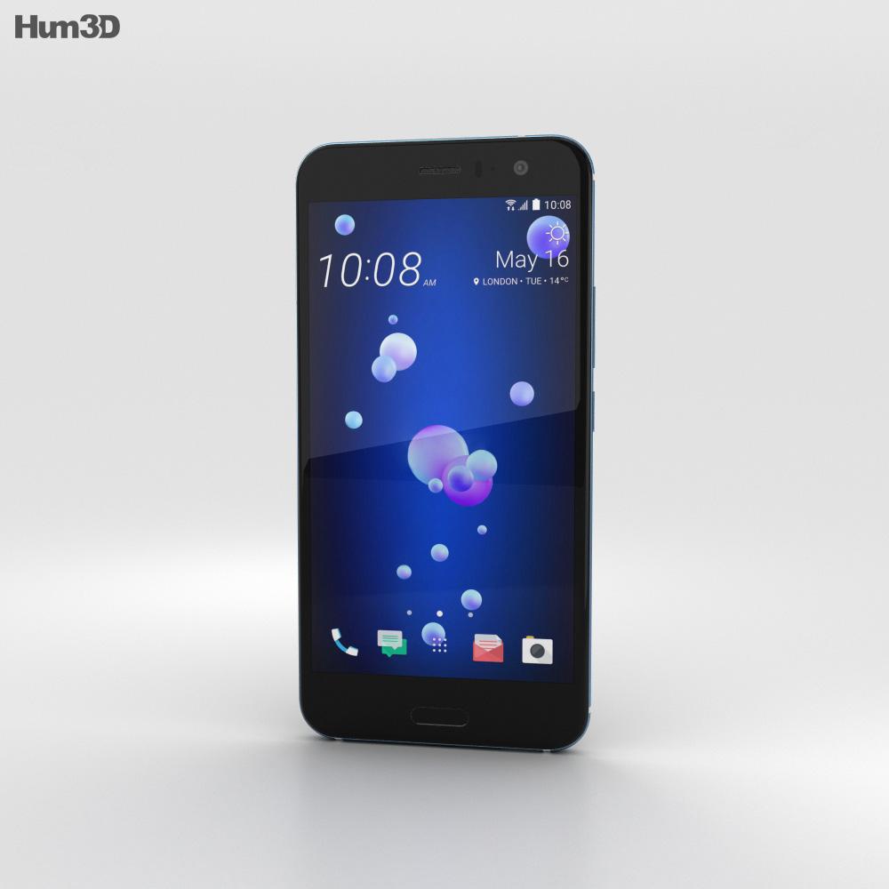 HTC U11 Amazing Silver 3d model