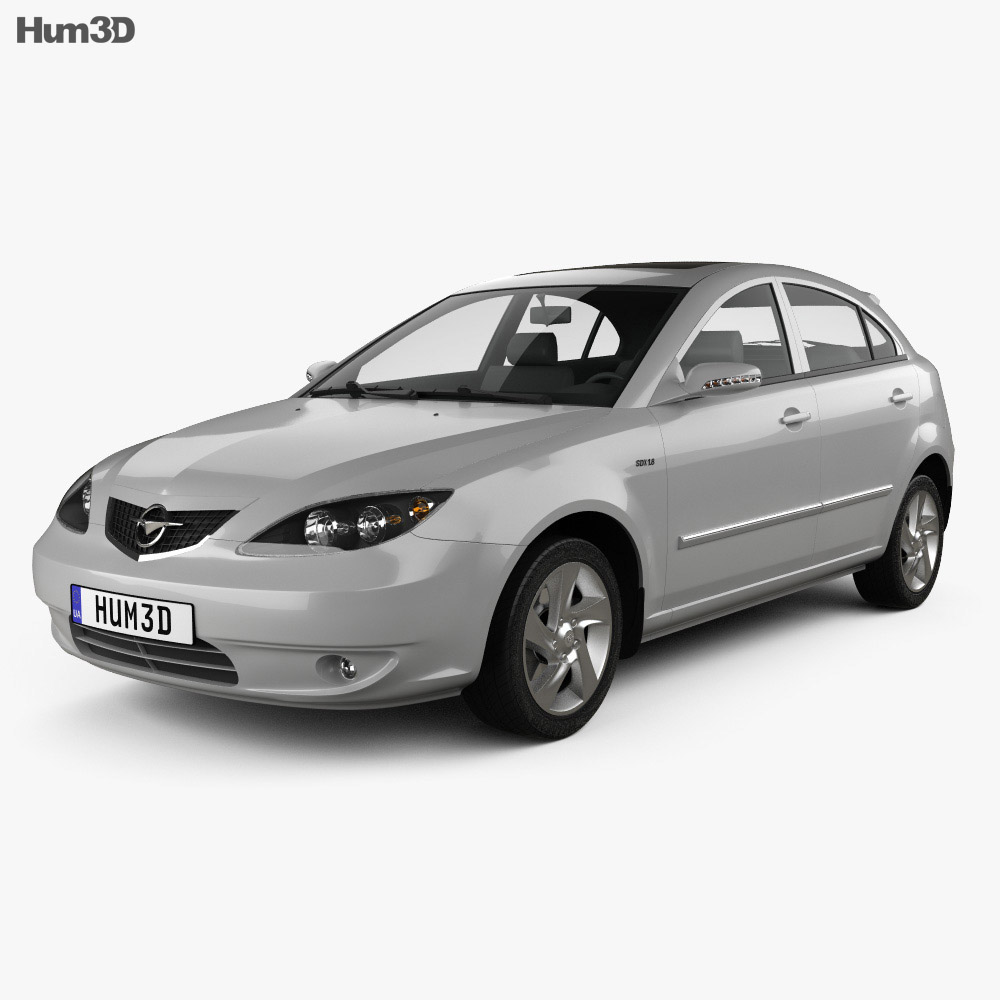 Haima 3 hatchback 2008 3d model