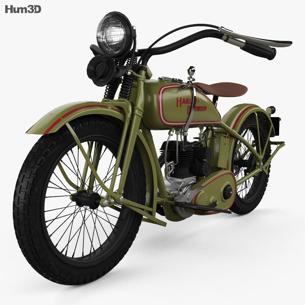 Harley-Davidson 26B 1926 3d model