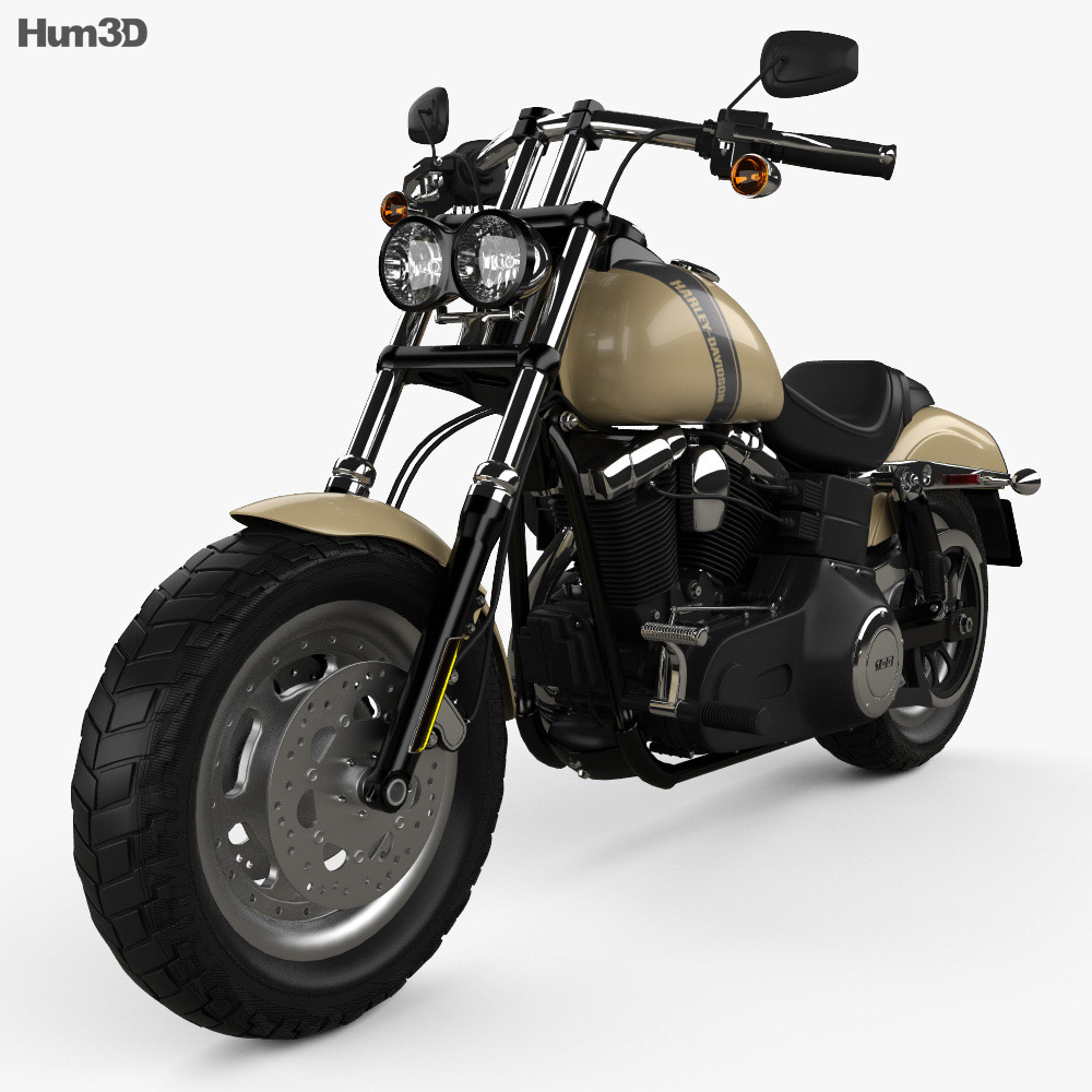 Harley-Davidson Dyna Fat Bob 2016 3d model