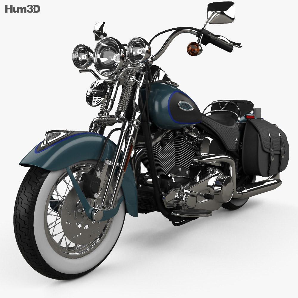 Harley-Davidson FLSTS Heritage Springer 2002 3d model
