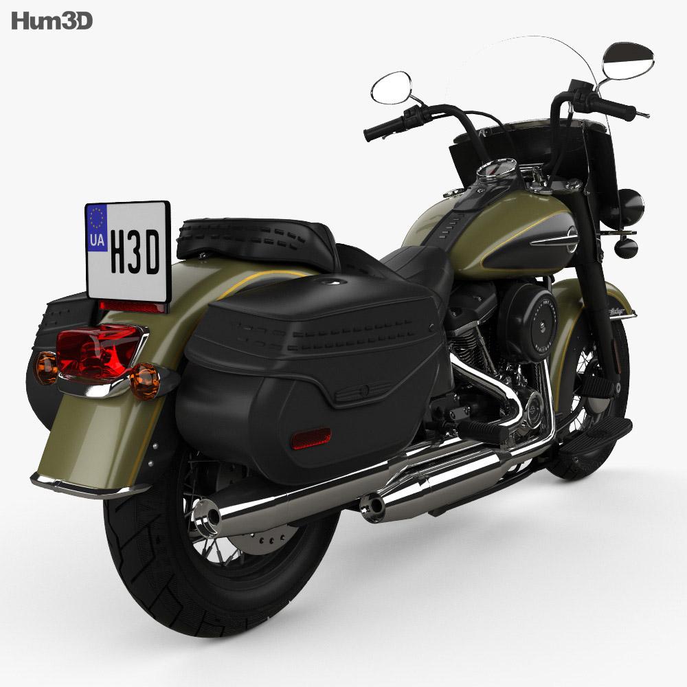 Harley-Davidson Heritage Classic 2018 3d model