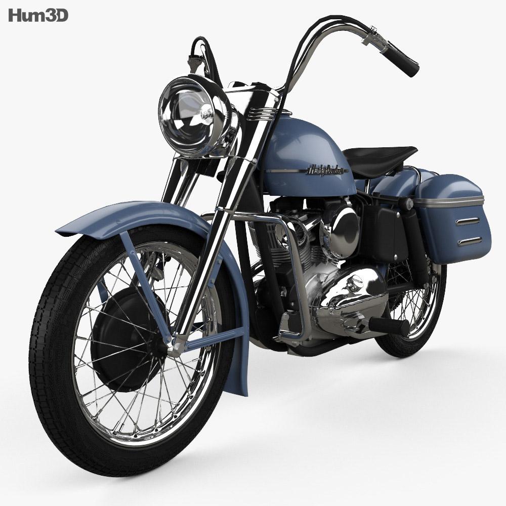 Harley-Davidson Model K 1953 3d model