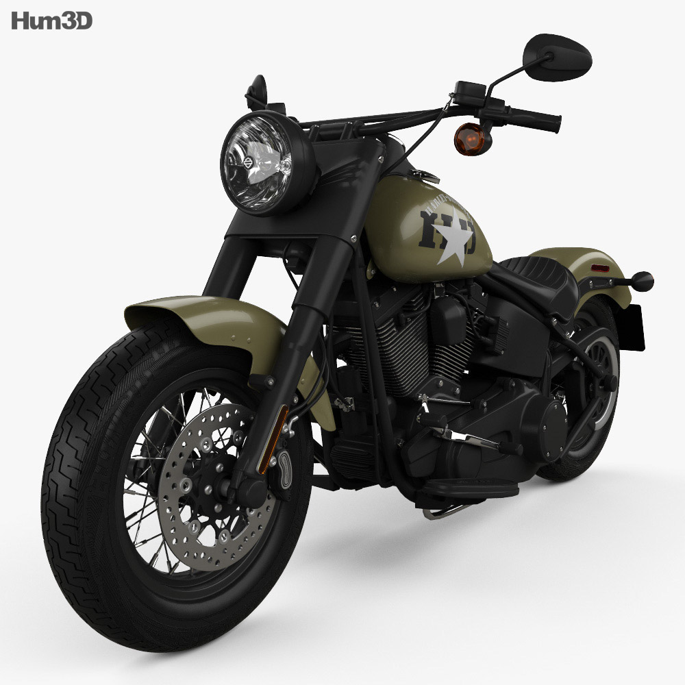 Harley-Davidson Softail Slim 2016 3d model