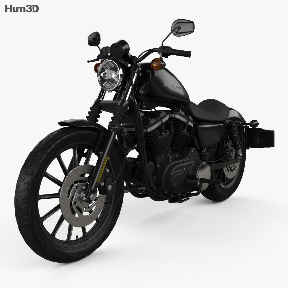 Harley-Davidson Sportster XL 883N Iron 883 2009 3d model