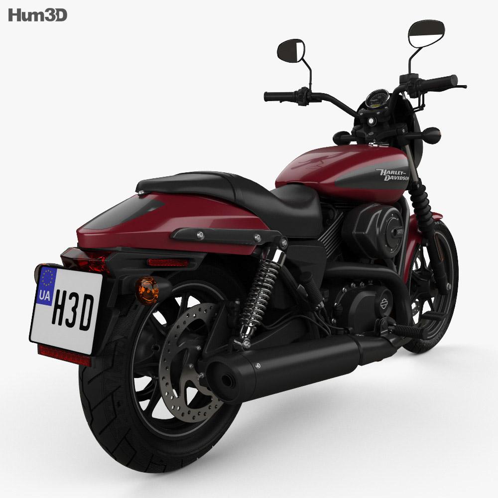 Harley-Davidson Street 750 2018 3d model