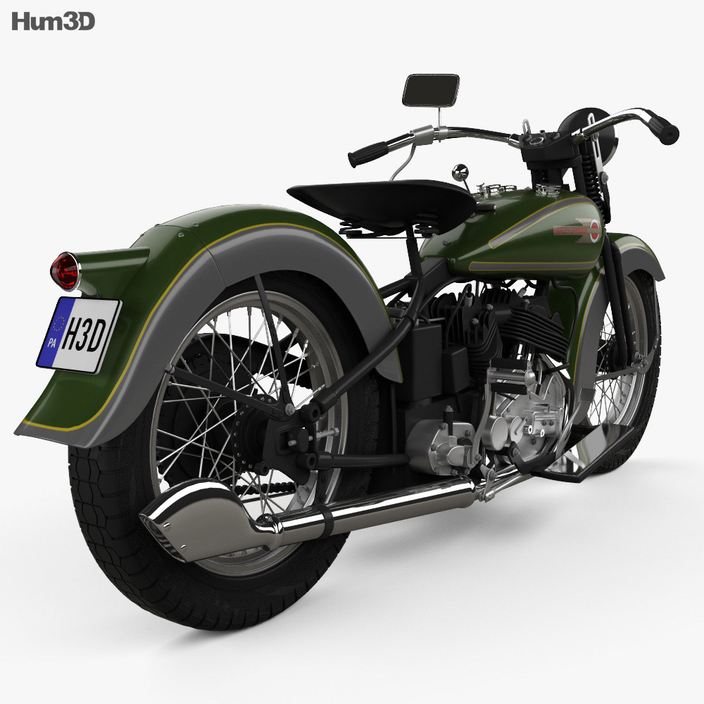 Harley-Davidson VL JD 1936 3d model