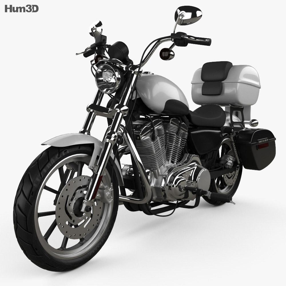 3D model of Harley-Davidson XL883L Police 2013