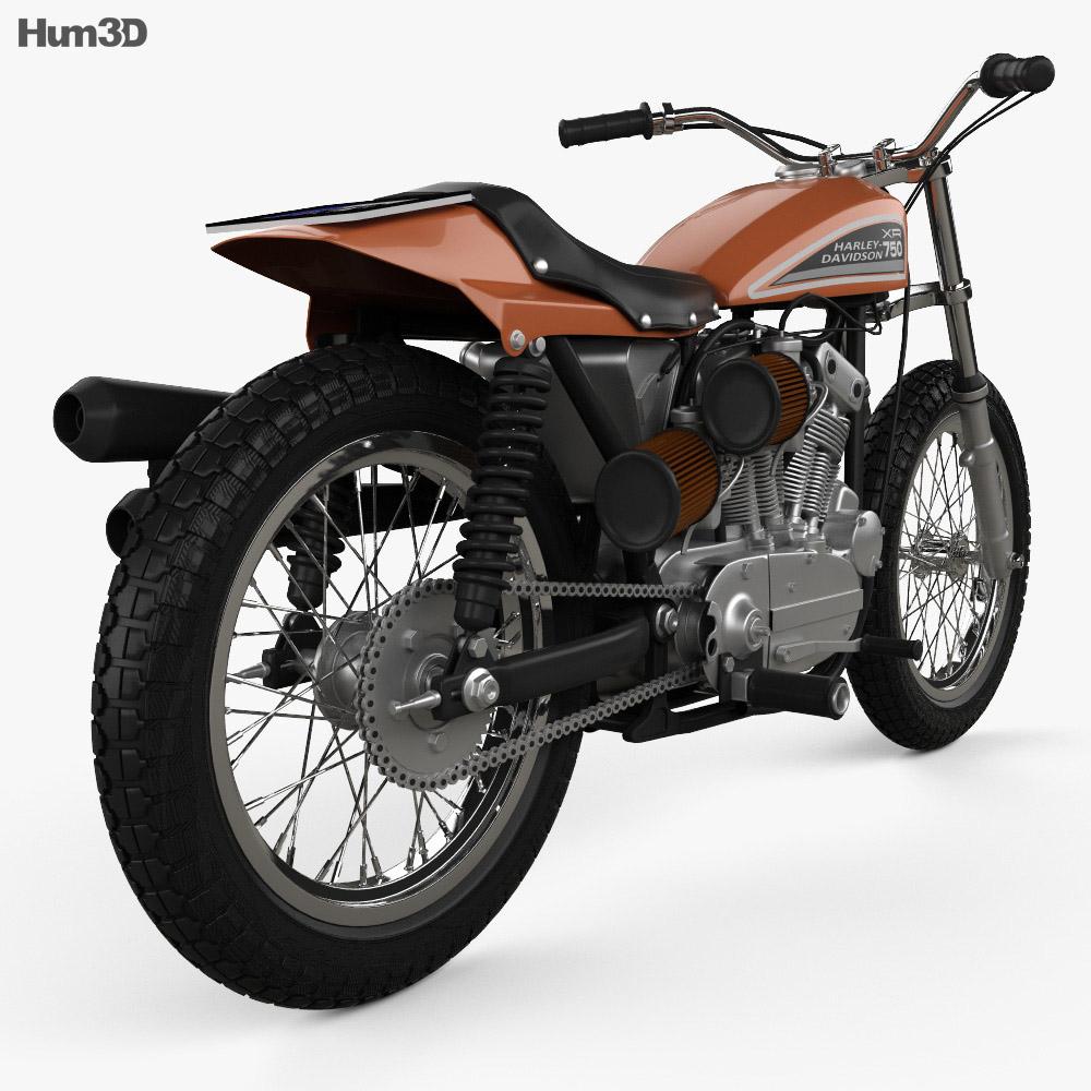 Harley-Davidson XR 750 1970 3d model