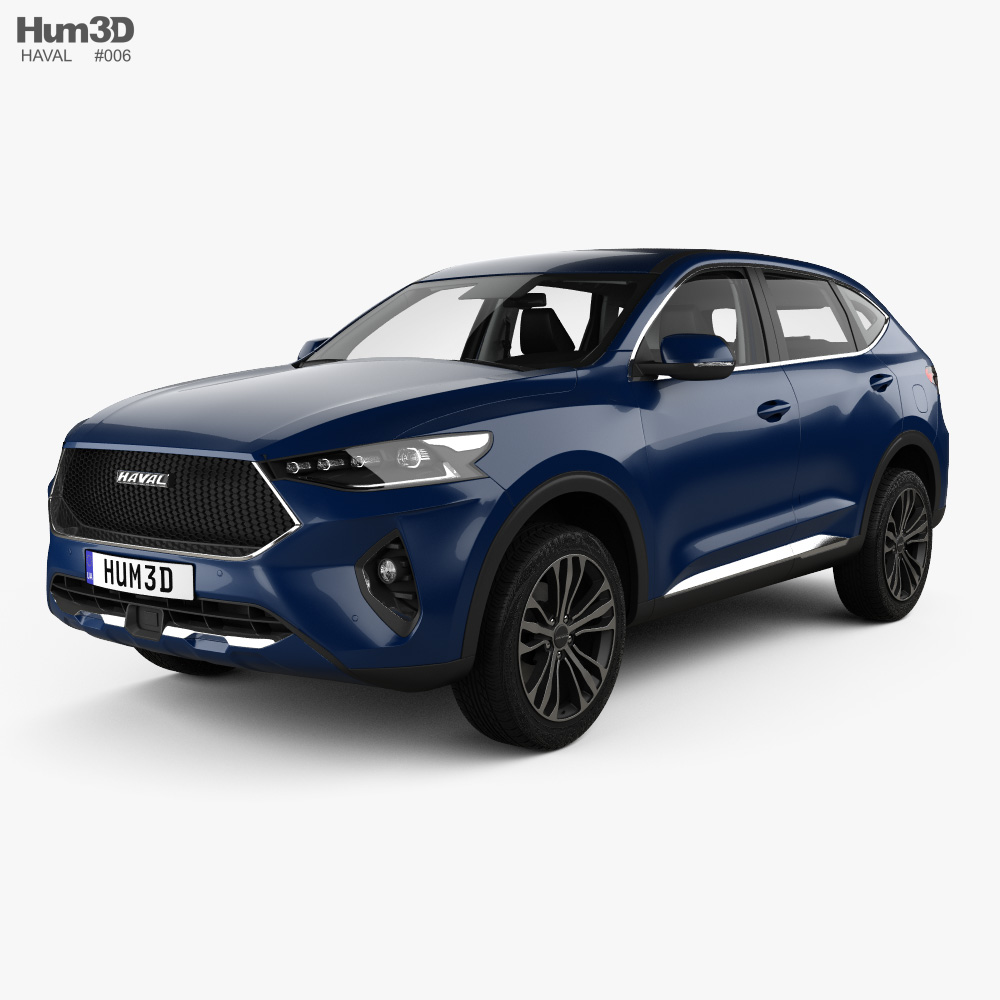 Haval F7 with HQ interior 2019 3d model