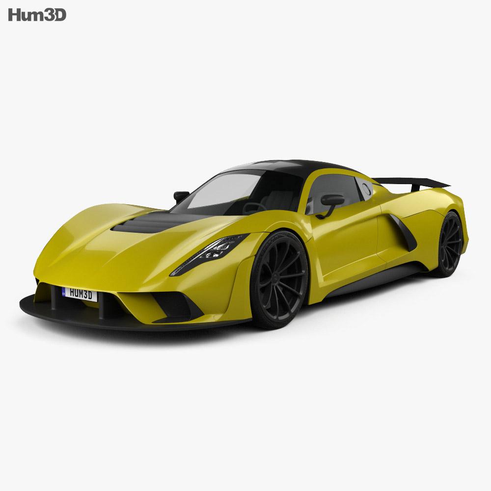 Hennessey Venom F5 2019 3d model