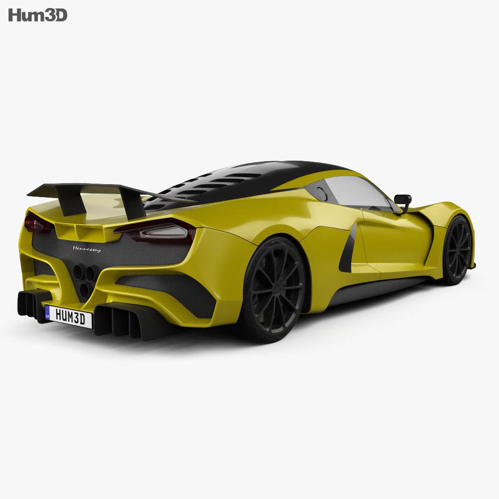 Hennessey Venom F5 2019 3d model back view