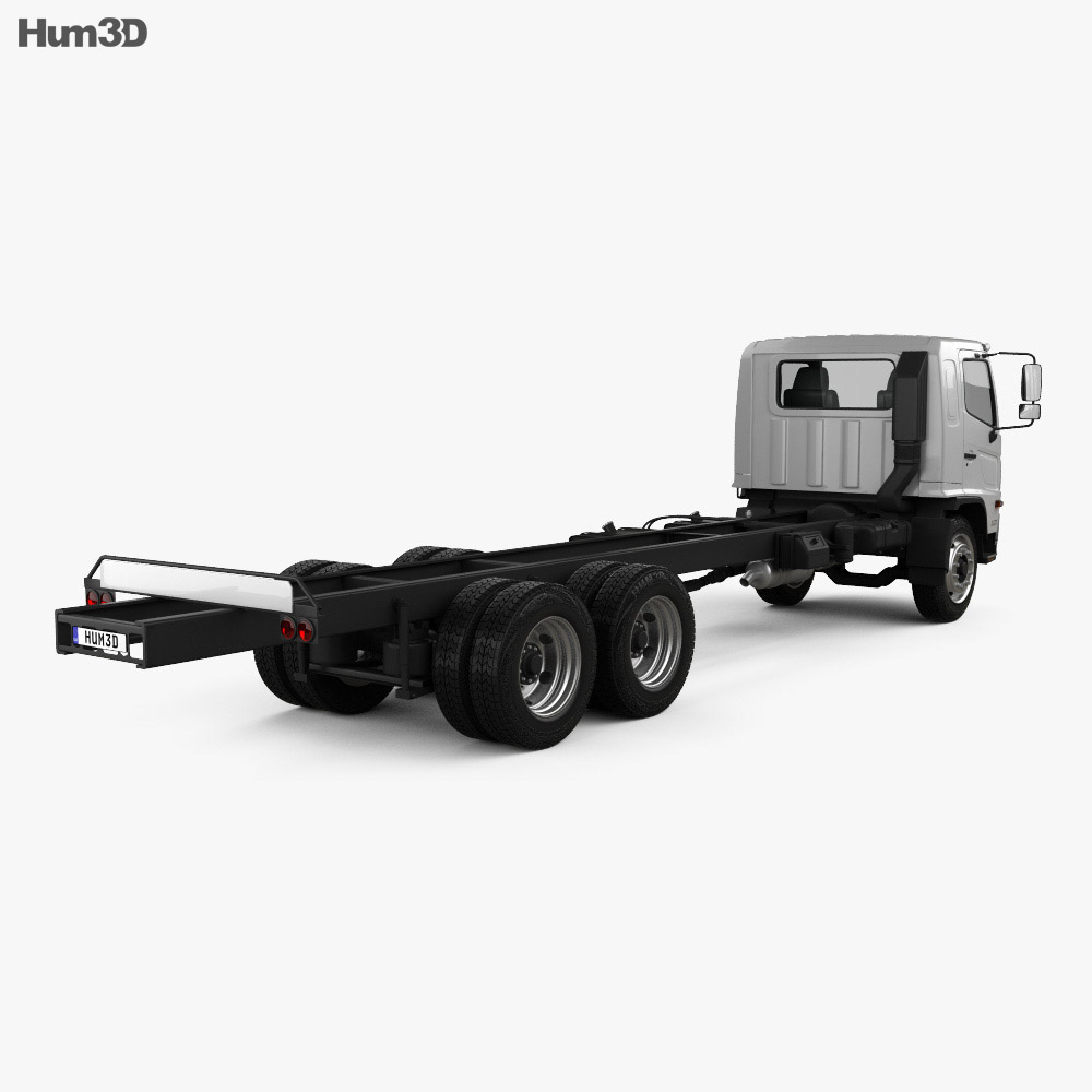 Hino 500 FC LWB Chassis Truck 2016 3d model