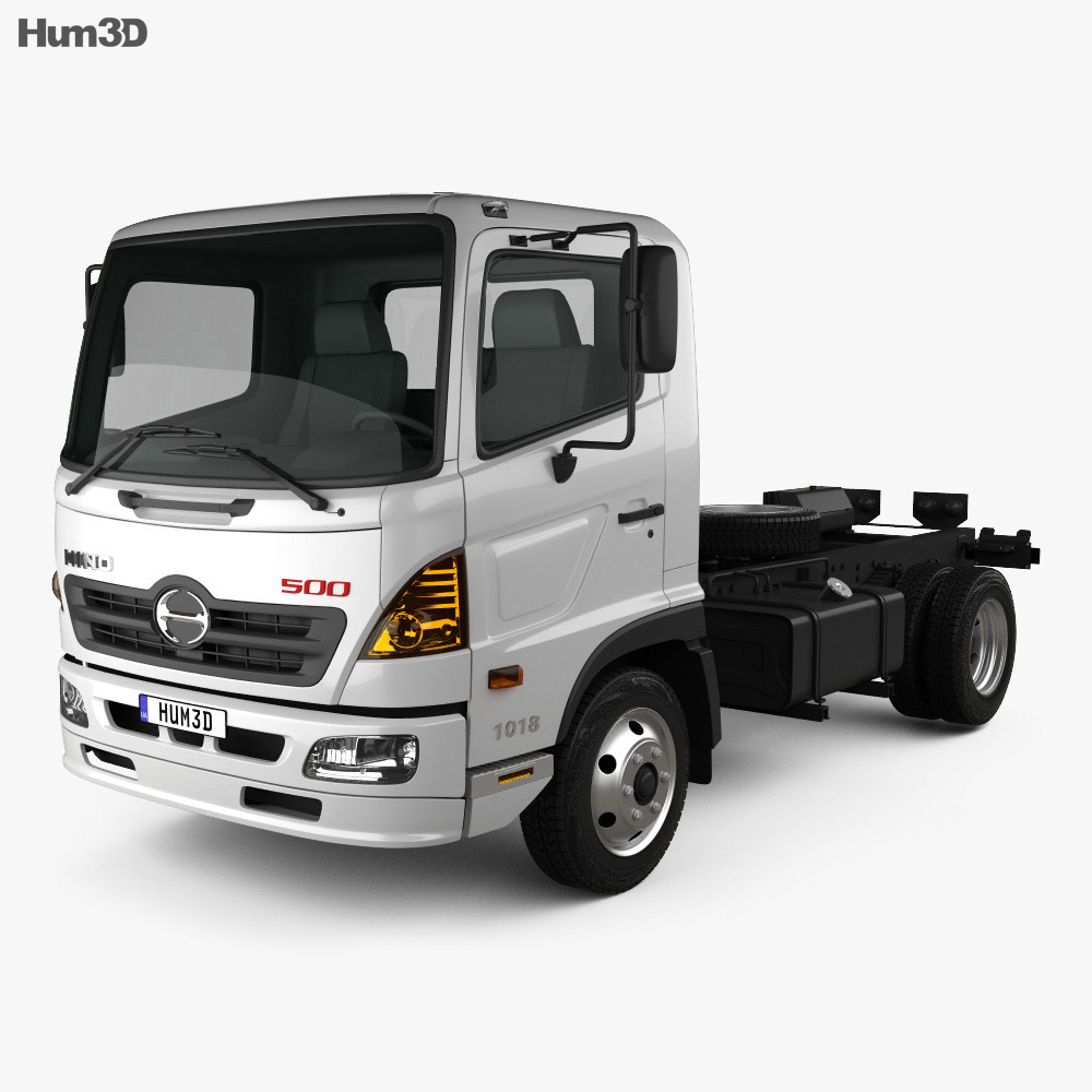 Discount Car Parts >> Hino 500 FC (1018) Chassis Truck 2008 3D model - Humster3D