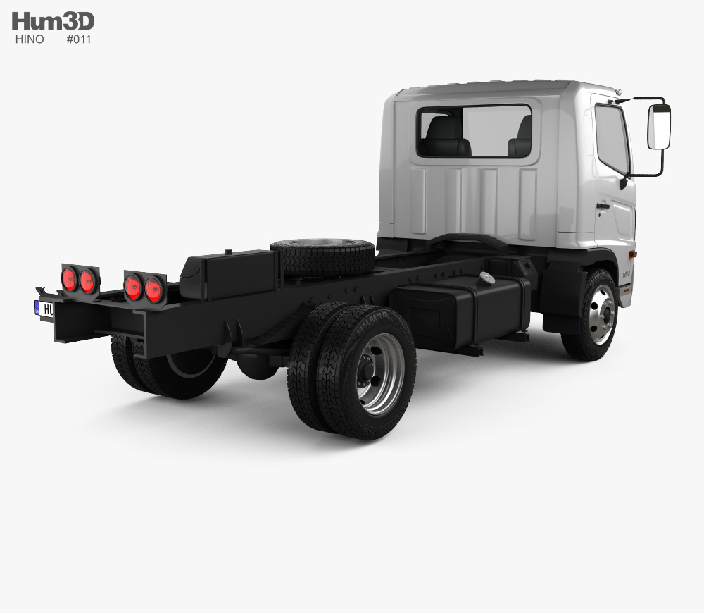 Hino 500 FC (1018) Chassis Truck 2008 3d model back view