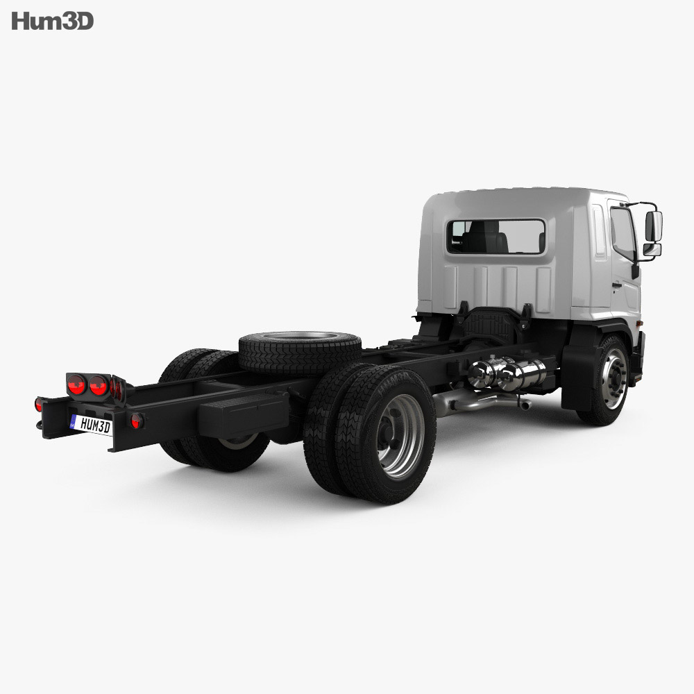 Hino 500 Chassis Truck 2018 3d model