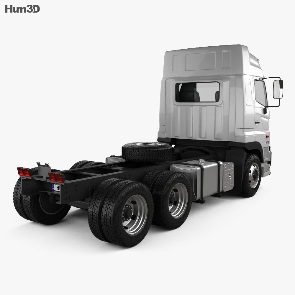 Hino 700 (2845) Tractor Truck 2009 3d model