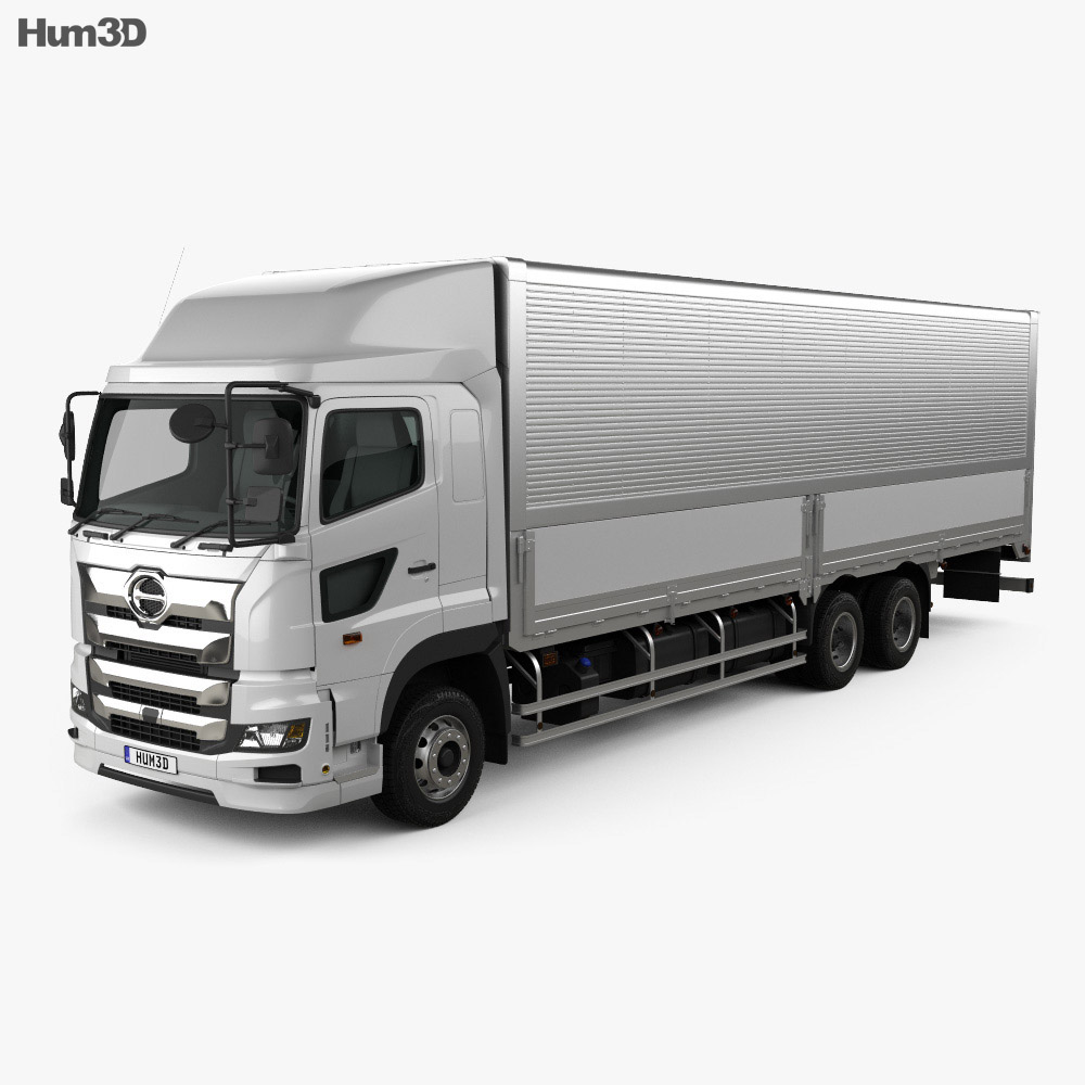 Hino 700 Profia Box Truck 3-axle 2017 3d model