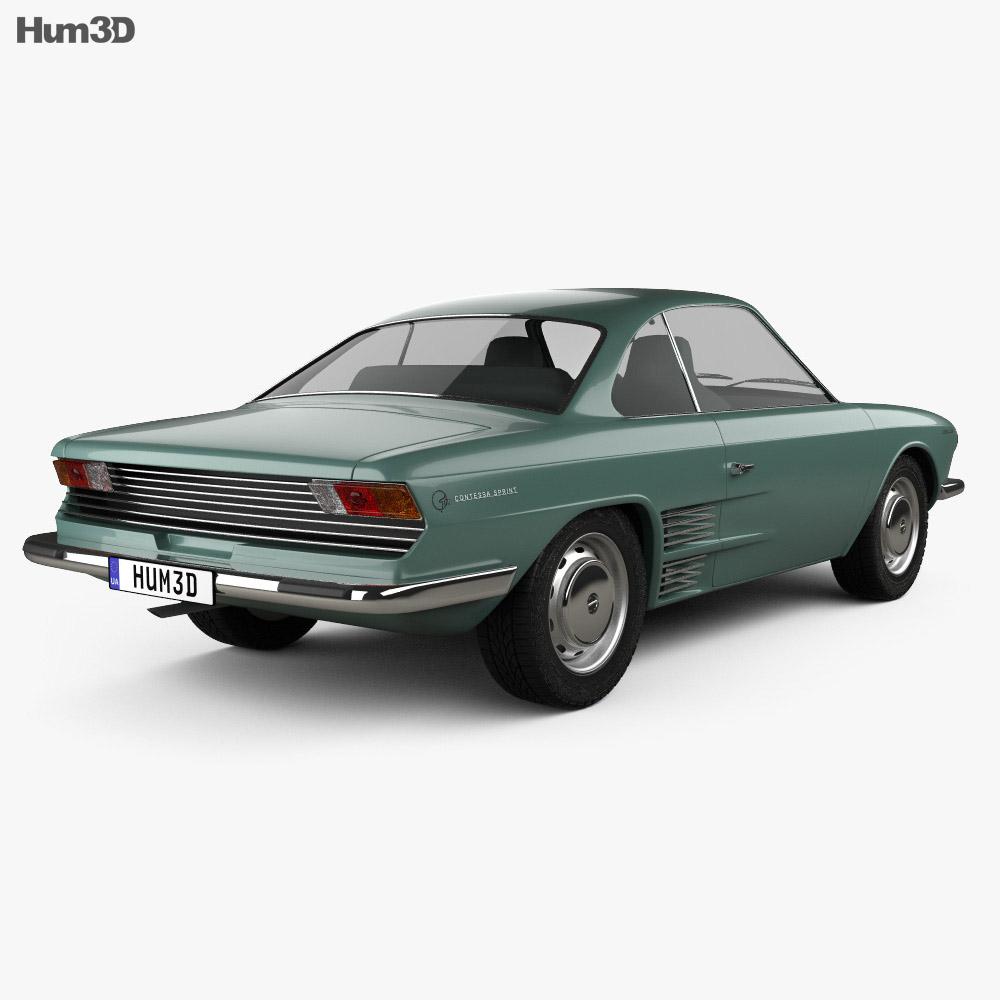 Hino Contessa 900 Sprint 1961 3d model back view
