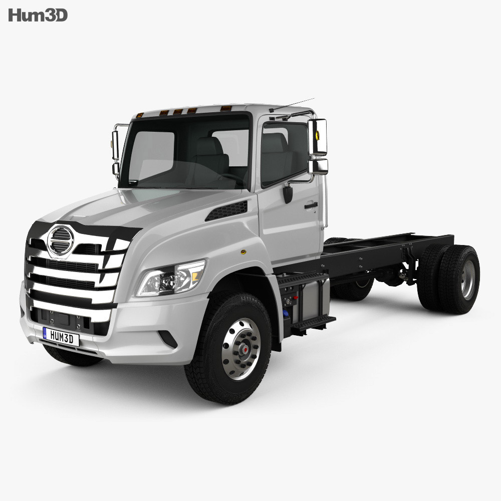 Hino XL Chassis Truck 2019 3d model