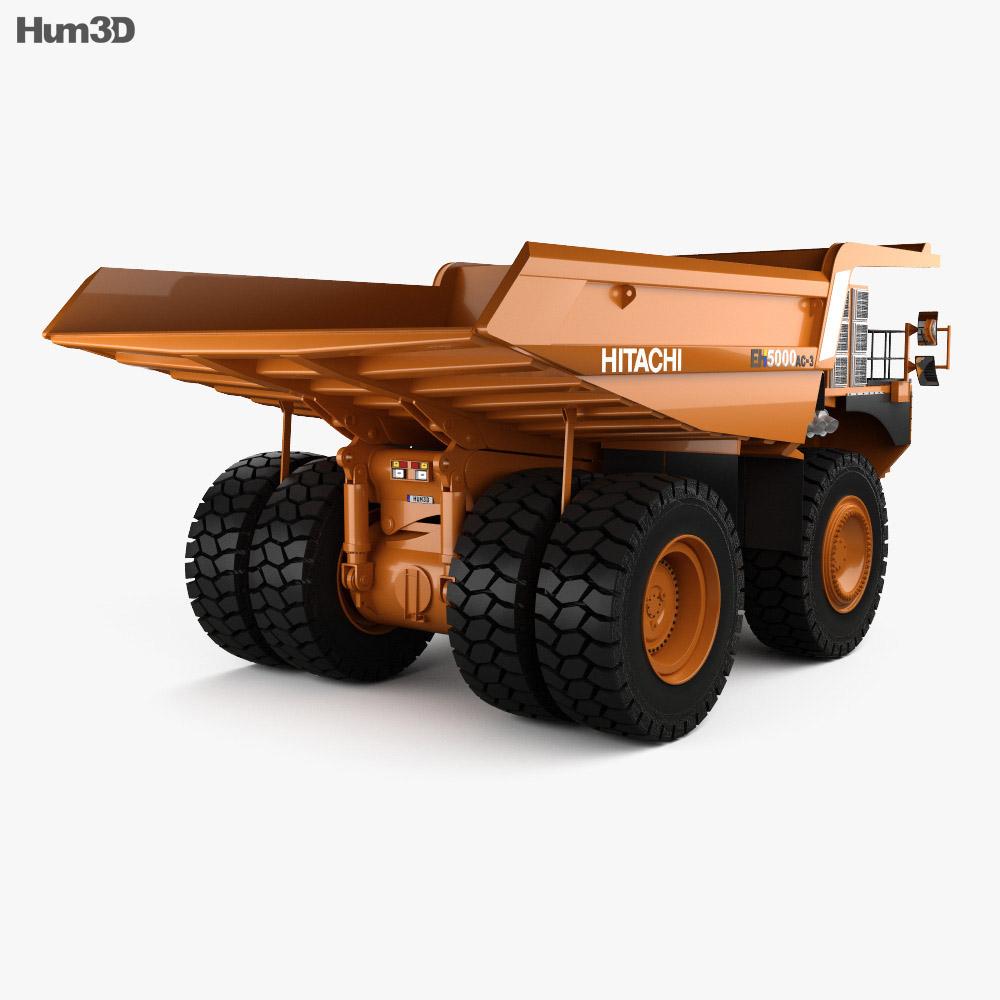 Hitachi EH5000AC-3 Dump Truck 2012 3d model