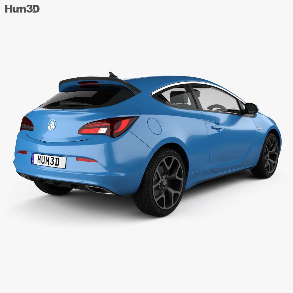 Holden Astra VXR 2015 3d model