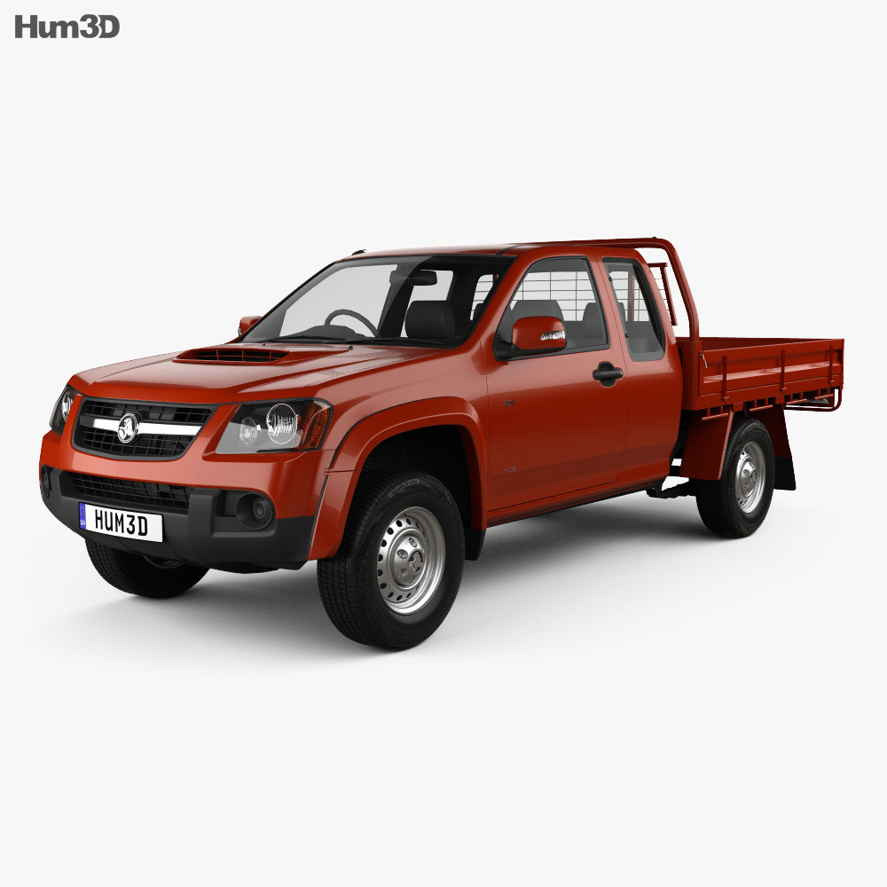 Holden Colorado LX Space Cab Alloy Tray 2008 3d model
