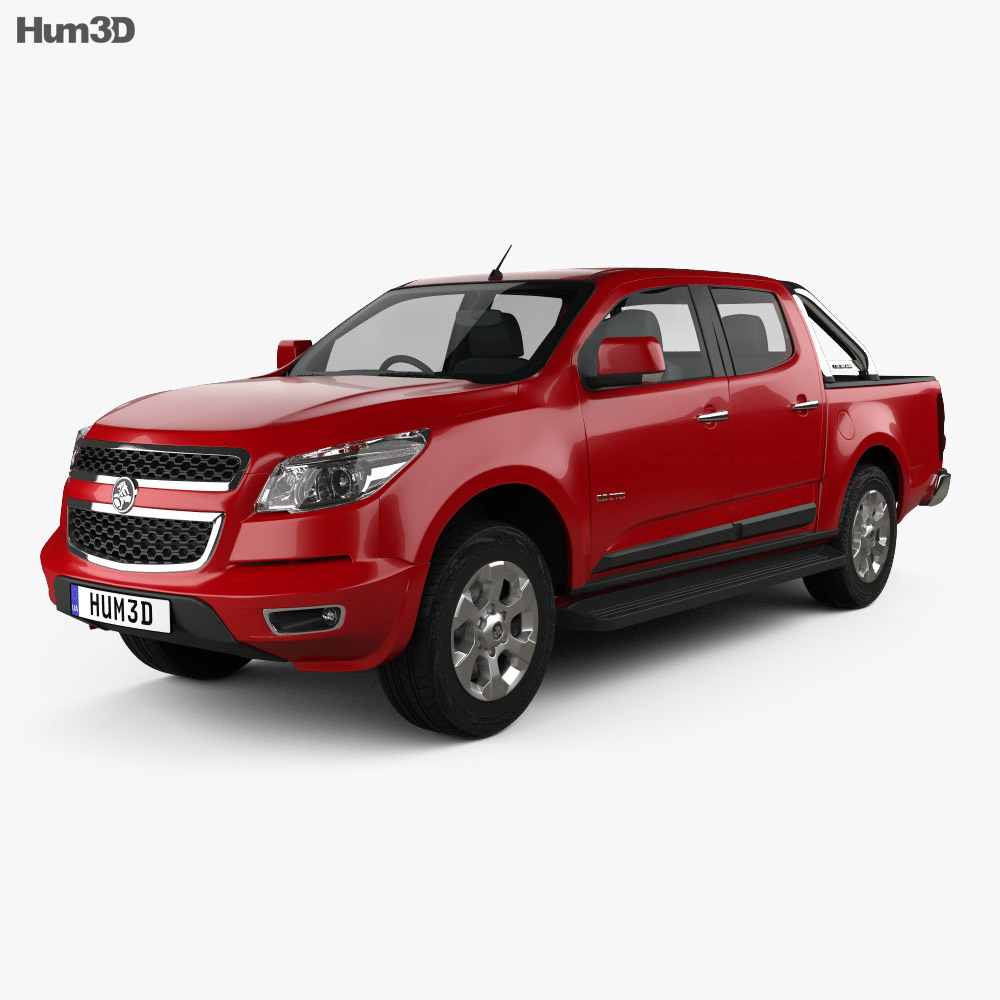 Holden Colorado LTZ Crew Cab 2012 3d model