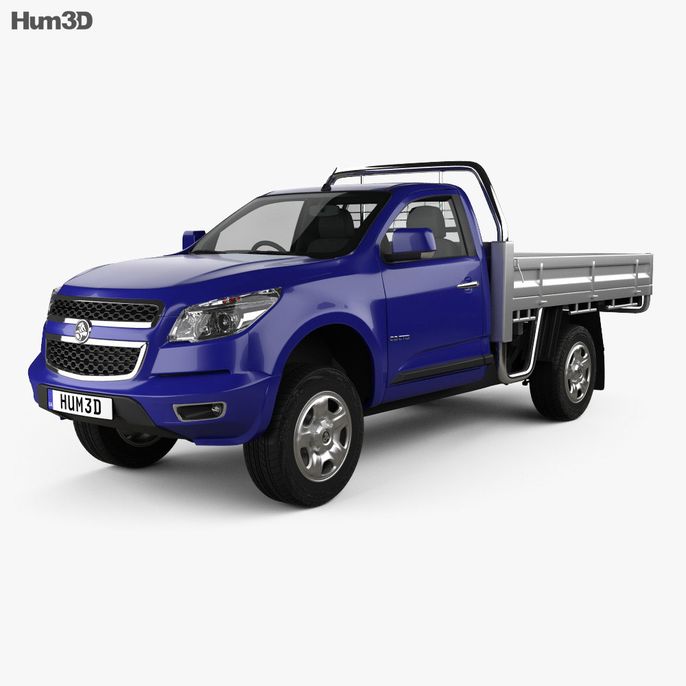 Holden Colorado LS Single Cab Alloy Tray 2012 3d model