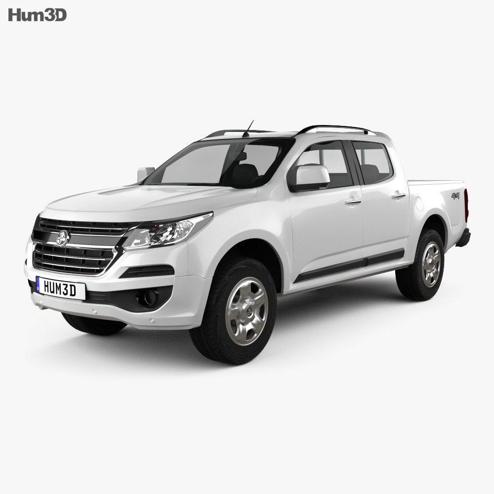 Holden Colorado LS Crew Cab 2016 3d model