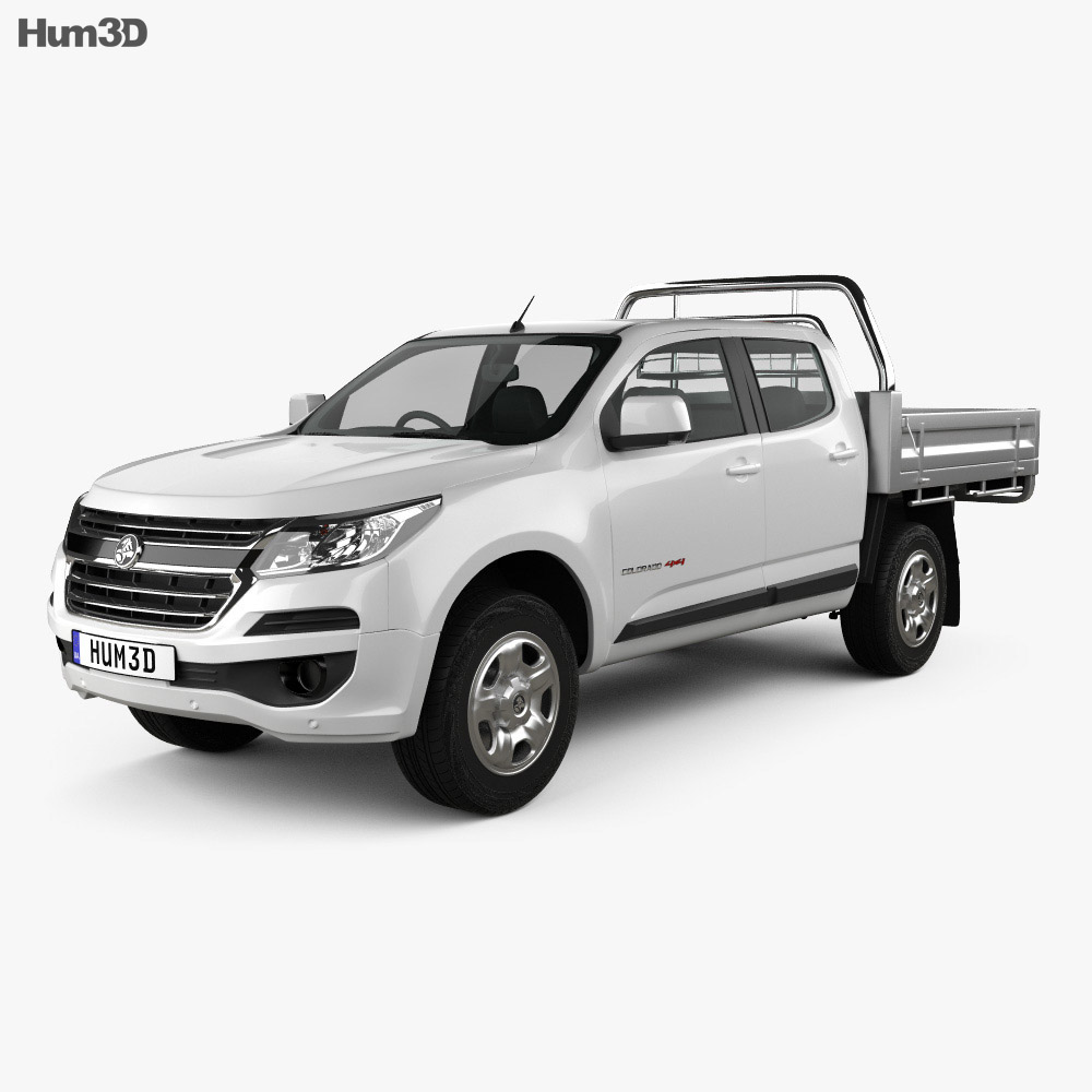 Holden Colorado LS Crew Cab Alloy Tray 2016 3d model
