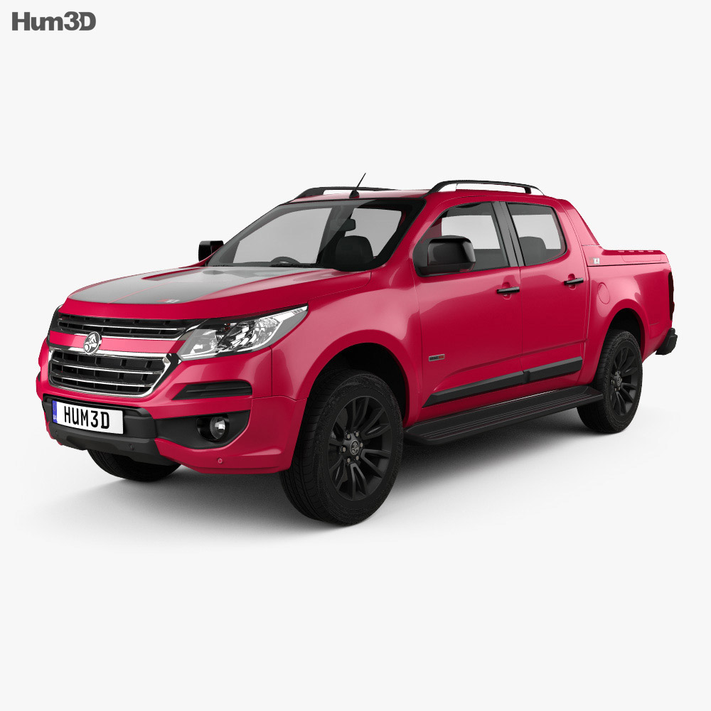 Holden Colorado Crew Cab Z71 2016 3d model