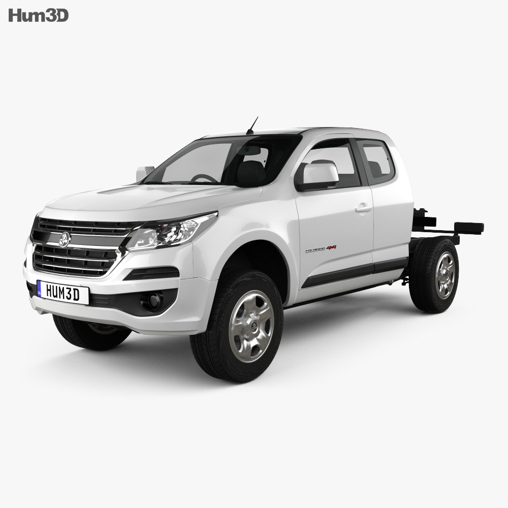 Holden Colorado LS Space Cab Chassis 2016 3d model