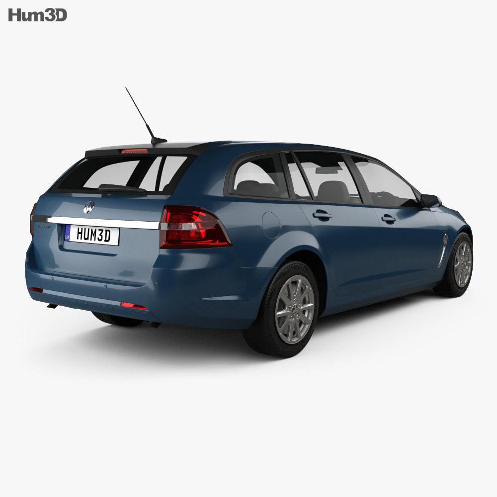 Holden Commodore Evoke sportwagon 2013 3d model back view