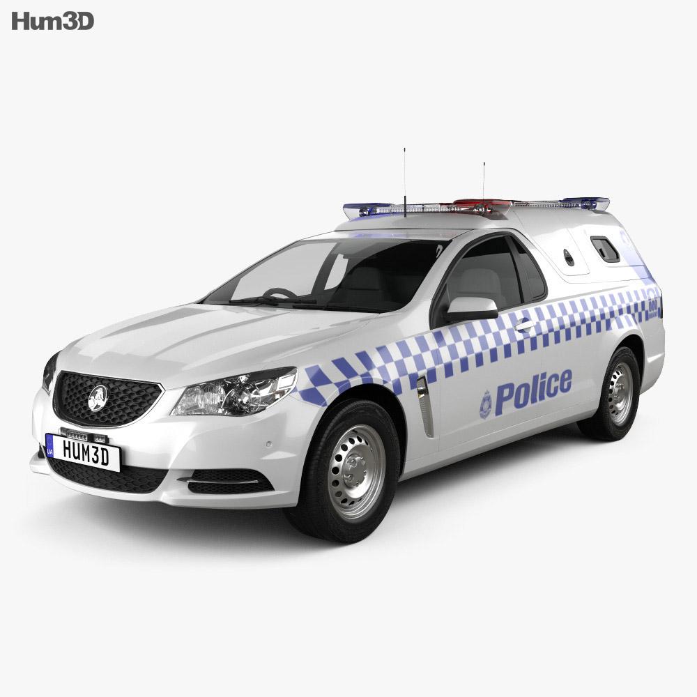 Holden Commodore ute Evoke Police 2013 3d model