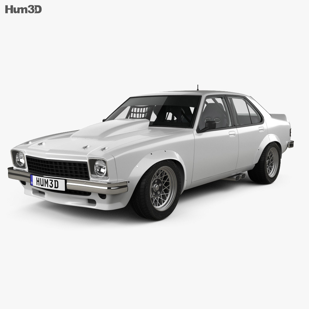 Holden Torana 4-door Race Car with HQ interior 1977 3d model