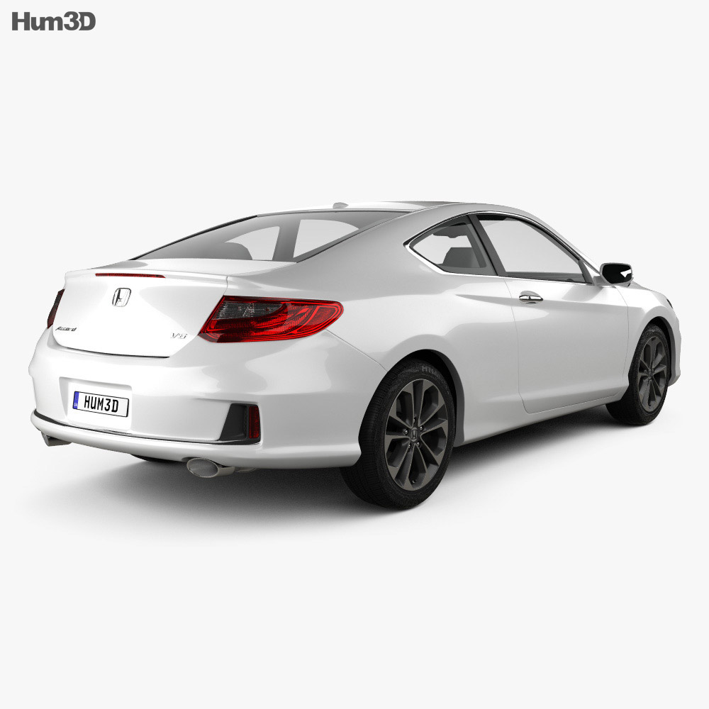 Honda Accord coupe 2013 3d model