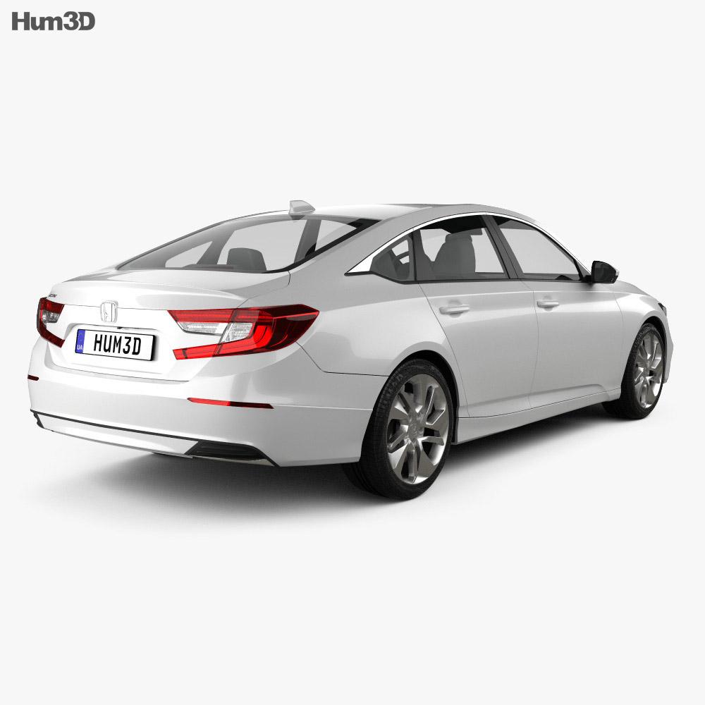 Honda Accord LX US-spec sedan 2018 3d model