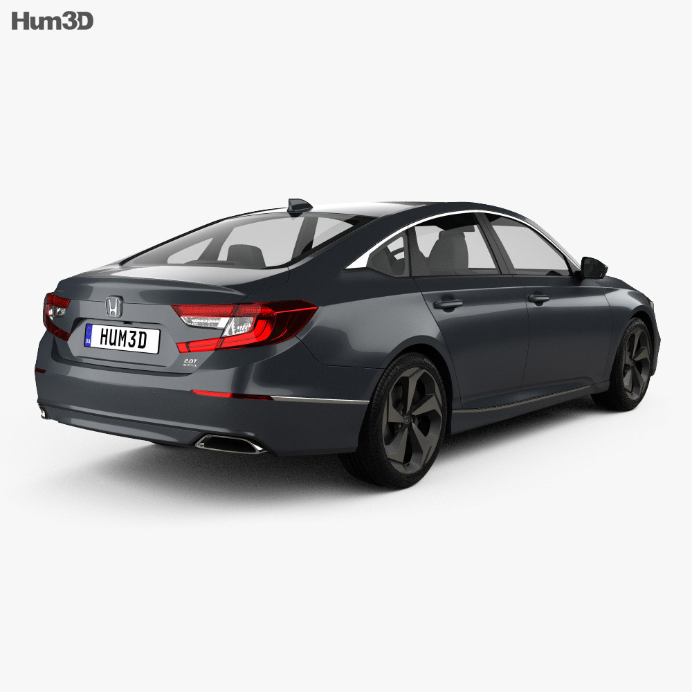 Honda Accord Touring US-spec sedan 2018 3d model