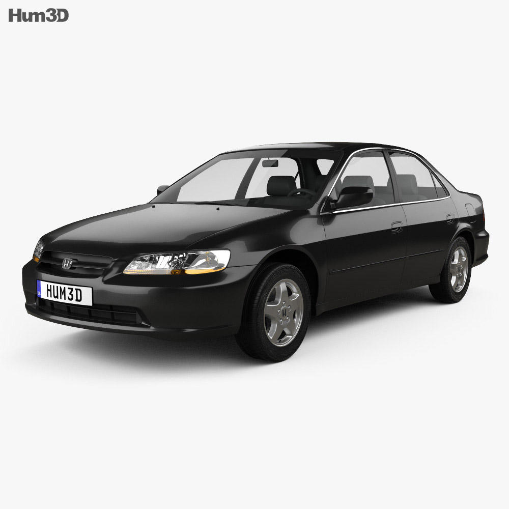 Honda accord ex us 1998 3d model hum3d for Honda accord base model