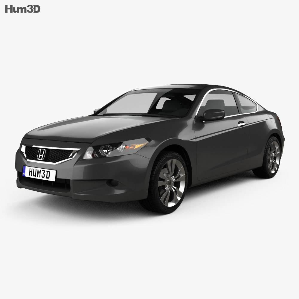 Honda accord cs ex l coupe 2008 3d model hum3d for Honda accord base model