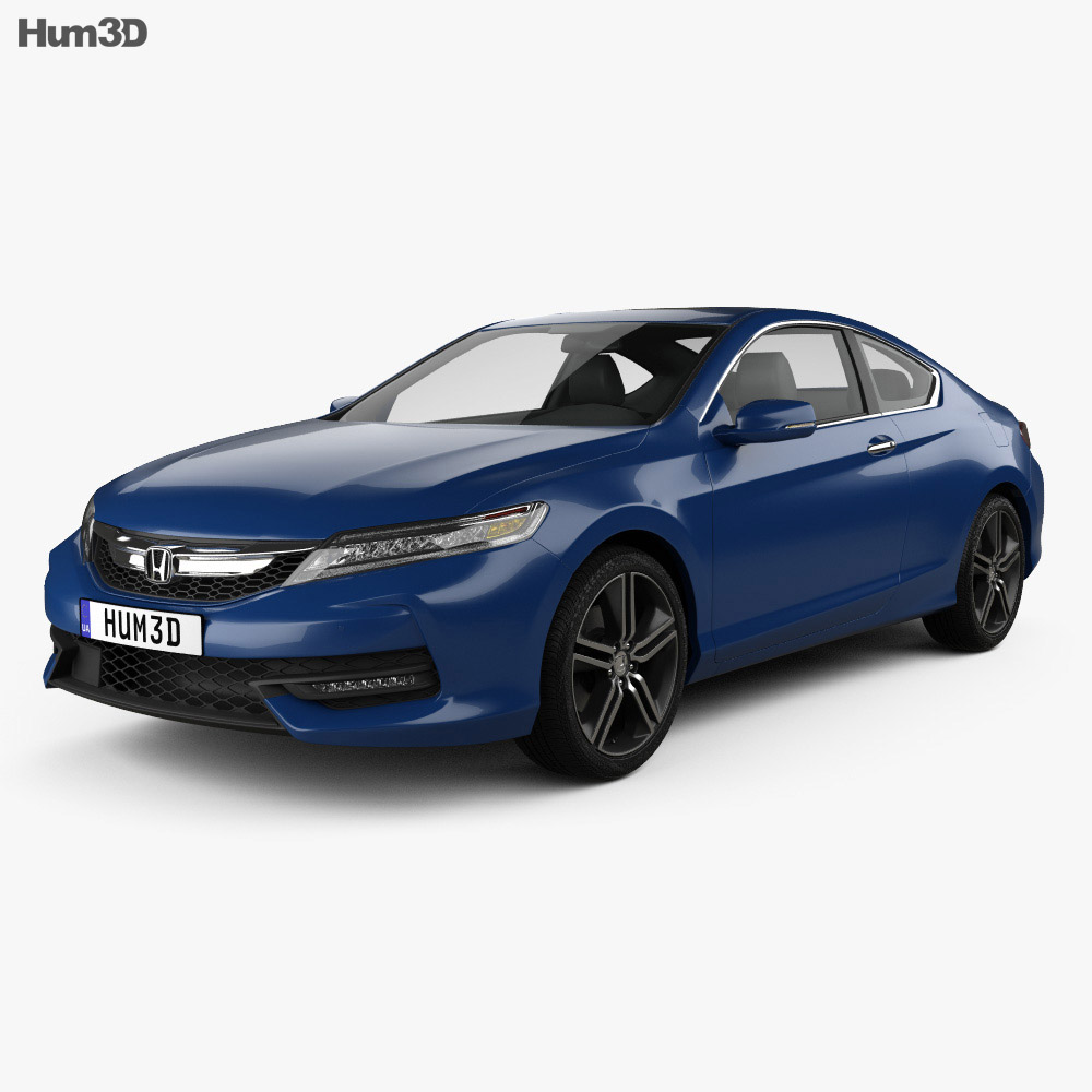 honda accord oupe touring 2016 3d model vehicles on hum3d. Black Bedroom Furniture Sets. Home Design Ideas