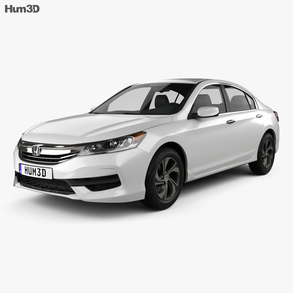 Honda accord lx 2016 3d model hum3d for Honda accord base model