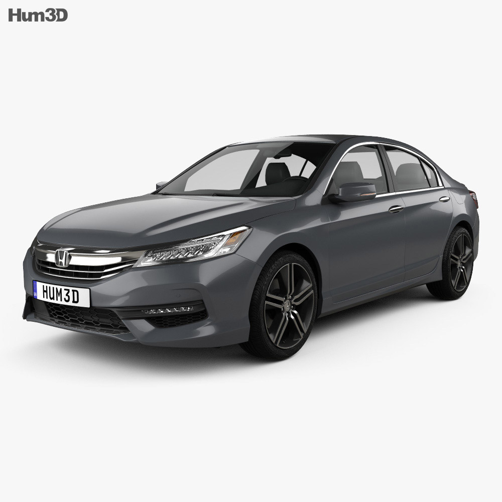 Honda accord touring 2016 3d model hum3d for Honda 2016 models