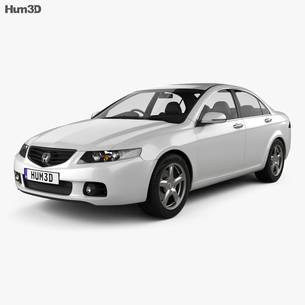 Honda Accord sedan 2003 3d model